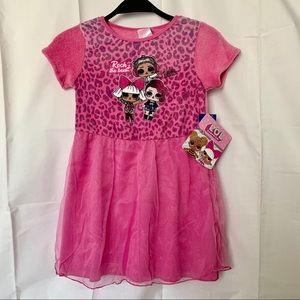 Girl's Flame Resistant Dress Sleepwear